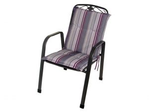 Royalcraft Purple Stripe Savoy Cushion (Sold In 4'S Or 6'S Only)