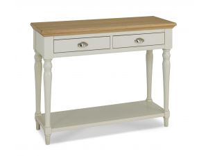 Bentley Designs Hampstead Soft Grey & Pale Oak Turned Leg Console Table