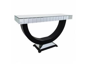 RV Astley Objet Mirrored Console Table