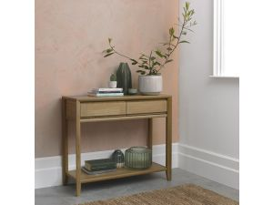 Bentley Designs Bergen Oak Console Table With Drawer