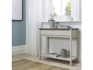 Bentley Designs Bergen Grey Washed Oak & Soft Grey Console Table With Drawer