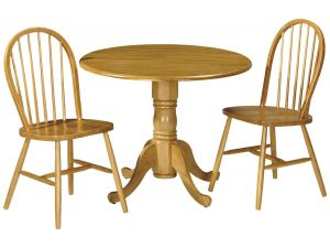 Julian Bowen Dundee Drop Leaf Dining Table and 2 Windsor Chairs