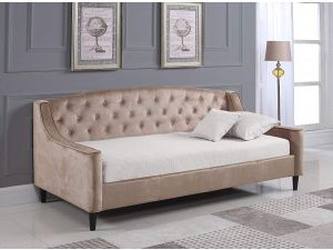 Sareer Daydream Champagne 3ft Single Shiny Velvet Day Bed