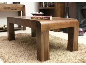 Baumhaus Shiro Walnut Medium Open Hardwood Coffee Table