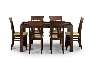 Julian Bowen Santiago Dining Table and 6 Santiago Dining Chairs