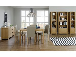 Bentley Designs Casa Oak 6-8 Ext. Table And 8 Upholstered Chairs