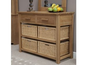 Opus Oak Basket Hall Table