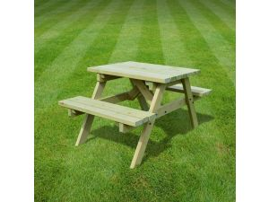 Rutland Oakham 3ft Light Green Picnic Bench