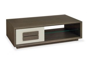 Bentley Designs City Soft Grey and Weathered Oak Coffee Table With Drawer