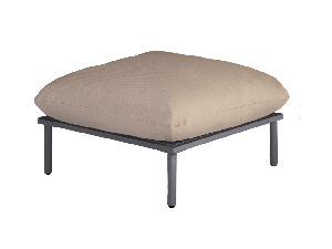Alexander Rose Beach Taupe/Grey Mesh Steel Footstool