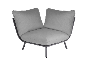 Alexander Rose Beach Taupe/Grey Mesh Steel Corner Lounge