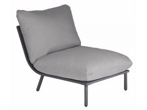 Alexander Rose Beach Taupe/Grey Mesh Steel Mid Lounge