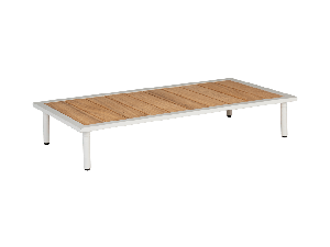 Alexander Rose Beach Lounge Roble Top White Mesh Steel Coffee Table