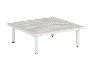 Alexander Rose Beach Alu Top White Mesh Steel Lounge Side Table