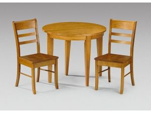 Julian Bowen Consort Pine Dining Table + 2 Consort Chair Dining Set