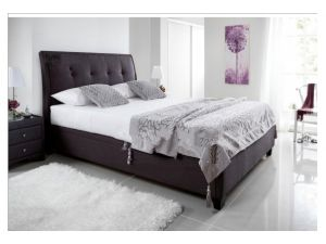 Kaydian Accent 6ft Super Kingsize Slate Fabric Ottoman Bed