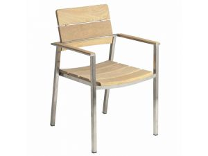 Alexander Rose Cologne Stacking Straight Armchair Roble