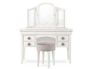 Bentley Designs Chantilly White Dressing Table Stool