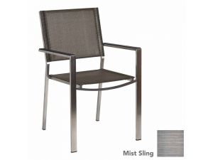 Alexander Rose Cologne Stacking Curved Armchair Graphite Sling