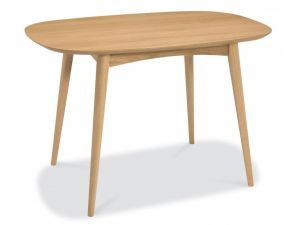 Bentley Designs Oslo Oak 4 Seater Fixed Dining Table
