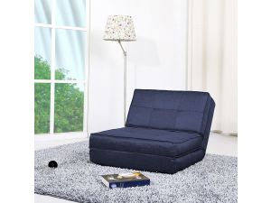 Levi Modern Blue Fabric Chair Bed