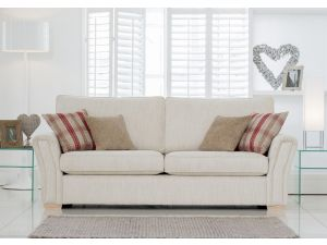 Alstons Venice 3 Seater Fabric Sofa