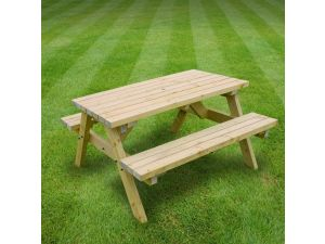 Rutland Oakham 5ft Light Green Picnic Bench