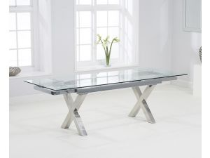 Cilento 160 cm Glass Extending Dining Table