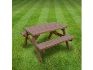 Rutland Oakham 4ft Rustic Brown Picnic Bench
