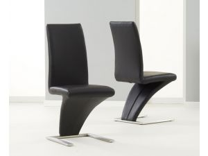 Hereford White PU Leather Dining Chair X 2