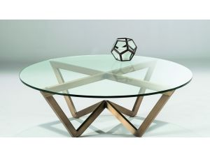 Chelsom Angle Circular Glass Coffee Table