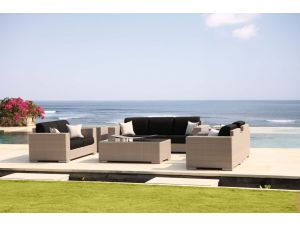 Skyline Brandon 6Pc Rattan Sofa Suite Set With Coffee & Side Table