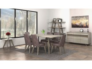 Bentley Designs Cadell Aged Oak 6 Seater Dining Table