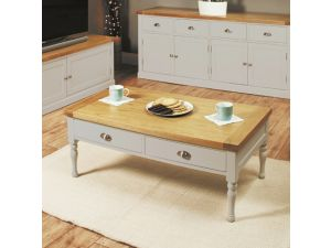 Chadwick Grey Painted Four Drawer Coffee Table