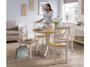 Calais Two Tone Wooden 106cm Round Dining Table