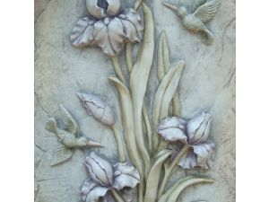 Europa Lilac Bud Flower Poly Stone Plaque