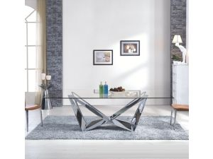 Fairmont Florentina Glass and Stainless Steel Dining Table