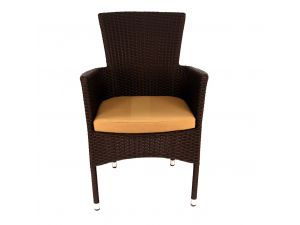 Europa Stockholm Chair Brown With Cushion Twin Pack