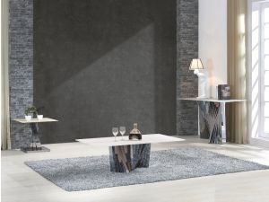 Fairmont Julietta Glass and Stainless Steel Console Table