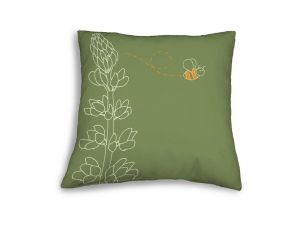 Leisuregrow Casual Green Country Lupin Scatter Cushion