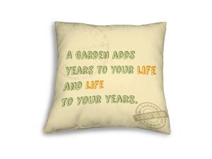 Leisuregrow Casual Cream Country Gardener'S Motto Scatter Cushion