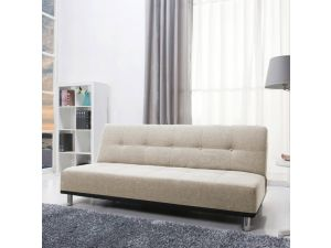 Duke Modern Peppered Grey Fabric Sofa Bed