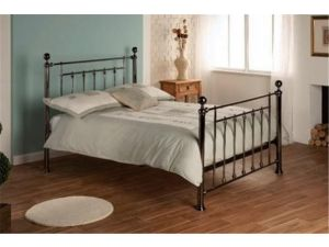 Limelight Libra 5ft King Size Black Metal Bed