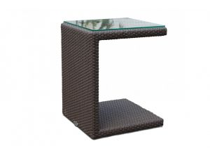 Skyline Imperial Rattan Sun Lounger With Miami Side Table