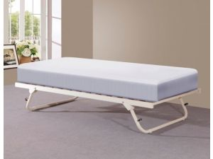 Sareer Cream 3ft Single Trundle Metal Day Bed