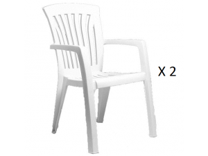 Europa Diana White Resin Dining Chair (Pack Of 2)