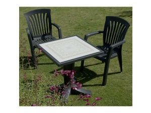 Europa Diana Anthracite Resin Dining Chair (Pack Of 2)