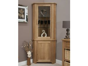 Opus Oak Corner Display Unit