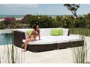 Skyline Pacific Chaise Daybed Rattan Set