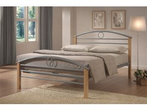 Limelight Pegasus 4ft6 Double Silver Metal Bed